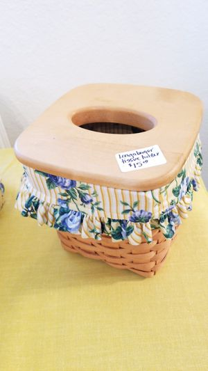 Longaberger tissue box for Sale in Arlington, TX