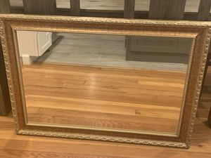 Hanging wall mirror (gold) for Sale in Arlington, VA