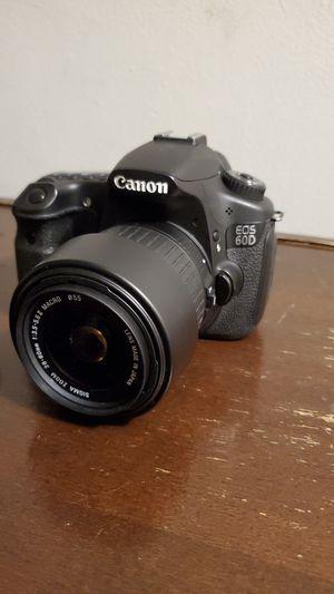 Canon 60D + Sigma 28-80 Macro Feature for Sale in Atlanta, GA