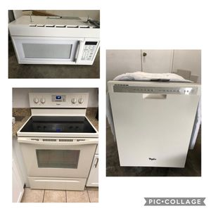 Kitchen appliances, color white, Whirlpool, cocina, microonda y dishwasher nuevos for Sale in Orlando, FL
