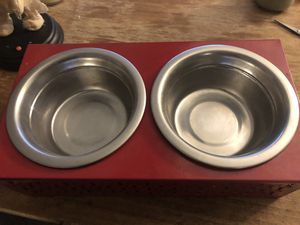 Dog/cat food bowl with stand for Sale in Tacoma, WA