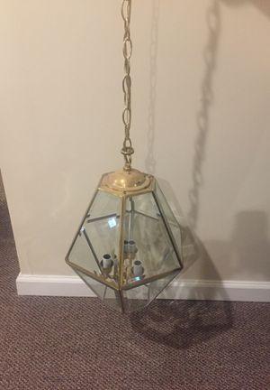 Brass Chandelier Beveled Glass for Foyer for Sale in Woodbridge, VA