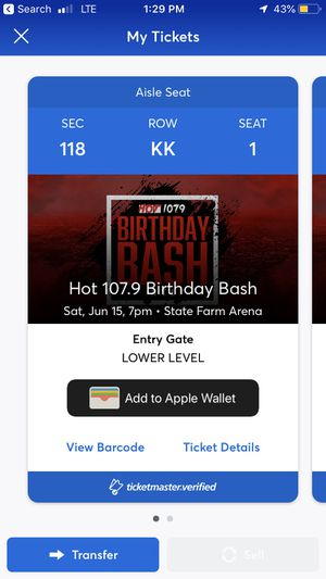 Birthday bash tickets for Sale in Decatur, GA