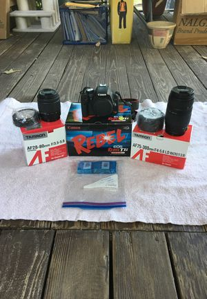 Canon Rebel T1i DSLR with lenses for Sale in Hudson, CO