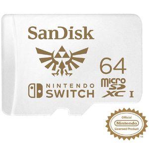 Sandísk- 64 GB microSDXC memory card for Nintendo switch for Sale in Atlanta, GA