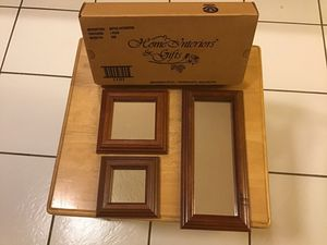 """Home Interiors 3mirror set. 11"""" X 5"""", 5 1/2 """"x5 1/2"""", 4 1/2""""X4 1/2"""". $10.00 for Sale in Cleveland, OH"""