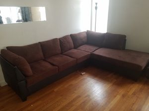 Brown and black sectional for Sale in Boston, MA