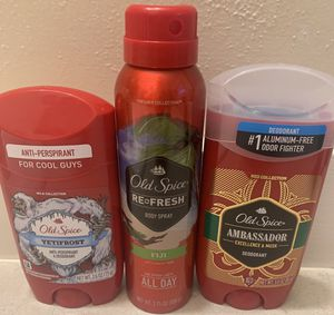 ❤️ NEW OLD SPICE DRY SPRAY & DEODORANTS ❤️ for Sale in Tacoma, WA