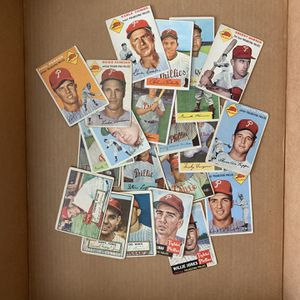 22 - 1952 1953 & 1954 Bowman Philadelphia Phillies Baseball cards Inc Richie Ashburn Robin Robert's Smokey Burgess for Sale in Brea, CA