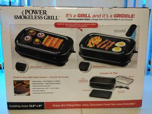 As Seem On TV Power Smokeless Indoor Electric Grill 1200w XL Non-Stick BBQ Grill for Sale in Detroit, MI