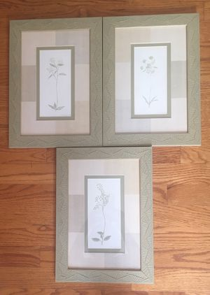 3 Framed Botanical Pictures for Sale in Aurora, IL
