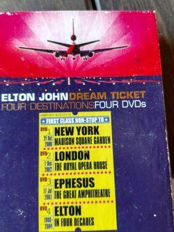 Elton John Dream Ticket Four Destinations Four DVDs Set for Sale in Surprise,  AZ