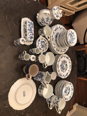 Blue Danube China set loated in Silver spring for Sale in Silver Spring, MD