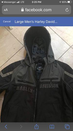 Men's Harley Davidson riding jacket size lrg. for Sale in Kennewick, WA