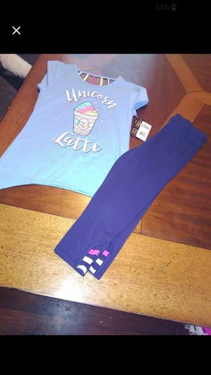 Girls unicorn outfit size 14 NEW for Sale in Waterford, PA
