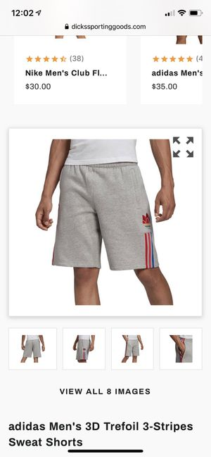 Adidas Men's 3D Trefoil 3-Stripes Sweat Shorts Large for Sale in Palm Springs, CA