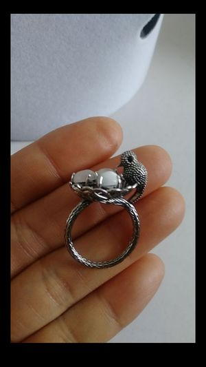 Size 7 17mm fashion silver opal manmade ring for Sale in Richmond, CA