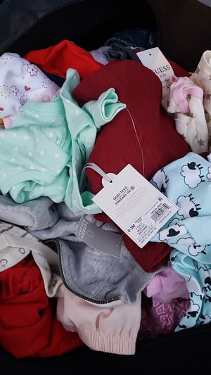 Name brand 0-6 month baby clothes about 75 piece some r new for Sale in Brooklyn, NY