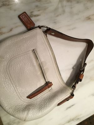 Coach off white polished pebbled leather purse model no. M0882-F13106 retails for $218 for Sale in Boston, MA