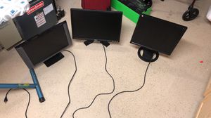 3 computer monitors 80& for Sale in Columbus, OH