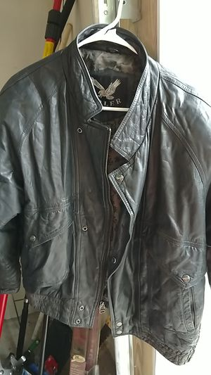 Genuine Leather Bomber Jacket Adler Size L for Sale in Sebastian, FL