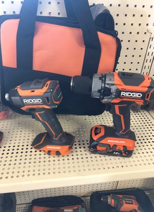 Ridgid v18 brushless drills for Sale in San Diego, CA