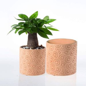 "Ceramic Plant Pot Garden Planters 6"" and 5.2"" Set of 2 Indoor Outdoor for Sale in Richmond, TX"