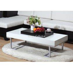 New Coffee Table, Glossy White, SKU# ID29265TC for Sale in Santa Fe Springs,  CA
