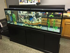 125 gallon fish tank/aquarium and stand for Sale in Plainfield, IL