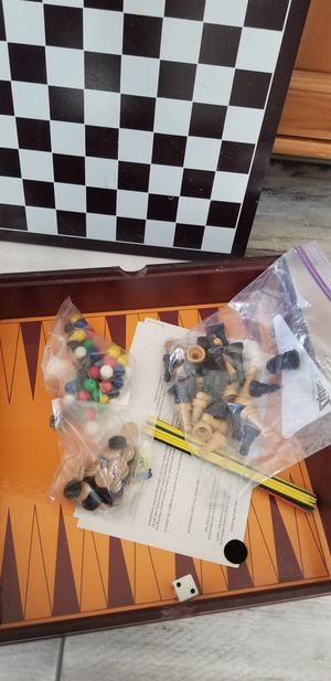 Wooden multi chessboard game for Sale in Haines City, FL