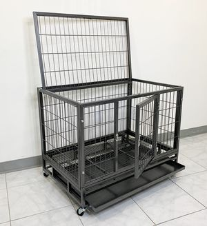 "New $110 Heavy Duty 36x24x29"" Large Dog Cage Pet Kennel Crate Playpen w/ Wheels for Large Pets for Sale in Whittier, CA"