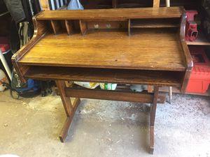 Antique desk solid oak for Sale in Phoenix, AZ