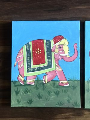 Elephant paintings Indian style for Sale in Oakton, VA