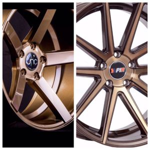 "Bronze wheels 18"" fit 5x114 5x112 5x100 ( only 50 down payment/ no CREDIT CHECK) for Sale in Philadelphia, PA"