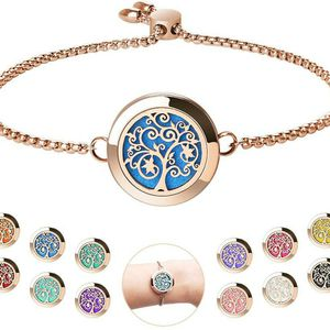 Rose Gold Aromatherapy Diffuser Bracelet with 24 Refill Pads Gift Idea for Sale in Corona, CA