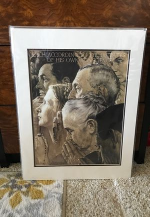 Norman Rockwell Freedom to Worship for Sale in Brea, CA
