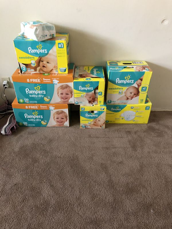 Pampers Swaddlers and baby dry