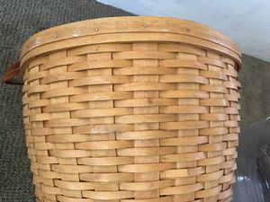 1999 Longaberger Corn Basket with leather handles for Sale in Riverside, CA