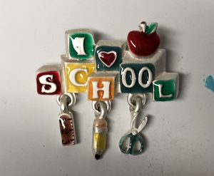 I love School Charm Pin for Sale in Parkville, MD