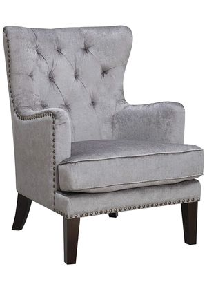 Gray wingback accent chair for Sale in Chicago, IL