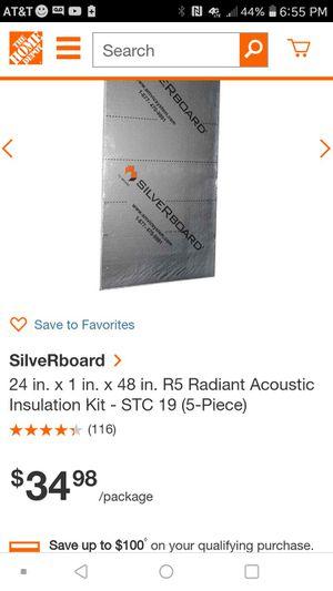 Silver board foam insulation board radiant barrier for Sale in Wake Forest, NC