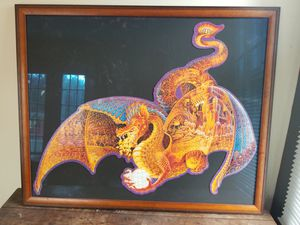 Professionally Framed Dragon Puzzle for Sale in Centreville, VA