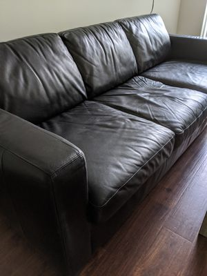 Leather 3 Seater Couch for Sale in North Springfield, VA