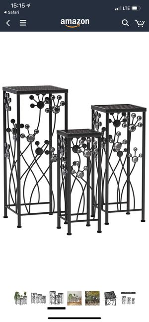 Mecor Metal Plant Stand 3 in 1 Flower Pot Holder Indoor/Outdoor Display Rack for Potted Plant for Sale in Bayonne, NJ