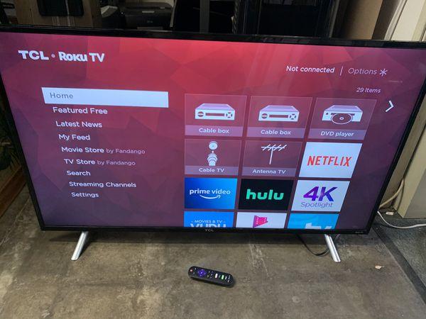 "TCL 49"" 4K Ultra HD(2160P) Roku Smart LED TV"