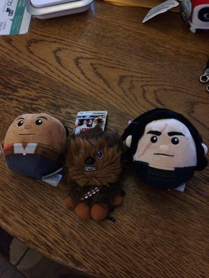 Set of three stuffed Star Wars characters two are Hallmark fluff balls for Sale in Newark, OH