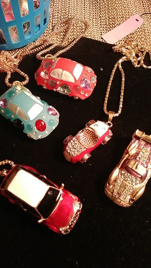 5-Betsey Johnson cars necklaces for Sale in Fresno, CA