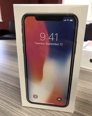 Brand new I phone X factory unlocked 64 gb white for Sale in Fairfax, VA