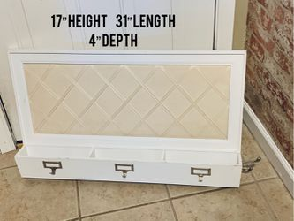 Wall Memo Board With Labels, Storage Bins & Side Hook for Sale in White House,  TN