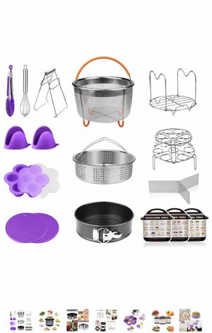 18-Pieces Pressure Cooker Accessories Set Compatible with Instant Pot 5,6,8 Qt - 2 Steamer Baskets with Divider, Non-stick Springform Pan, Stackable for Sale in Elkridge, MD